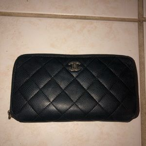 CHANEL Bags - Chanel zip around Wallet